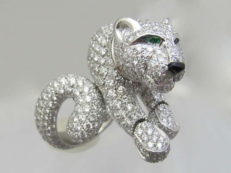 Cartier Diamond Panther Ring At 1stdibs