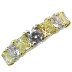 Natural Fancy Yellow Diamond Band