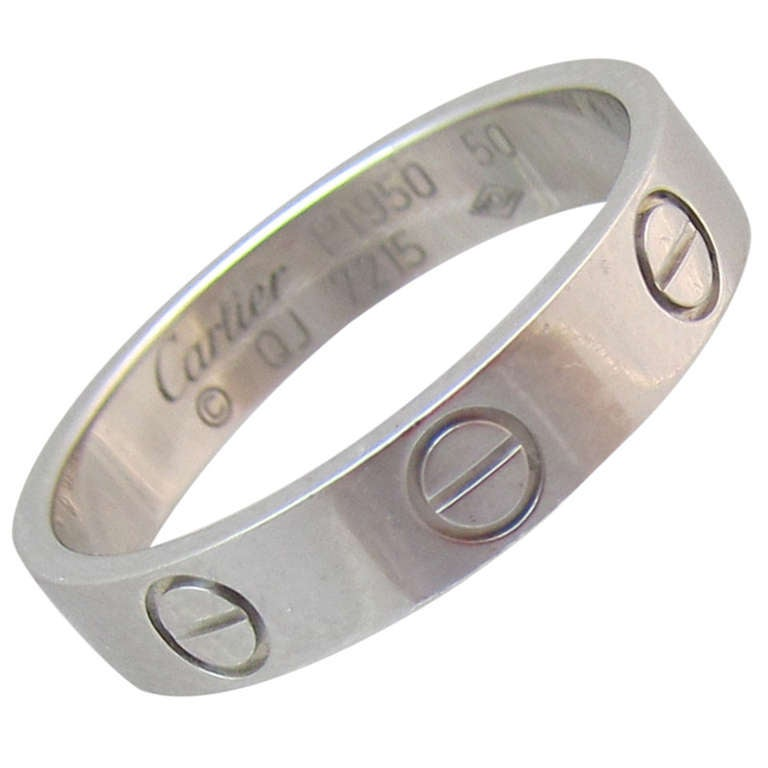 Cartier Platinum Love Band 1