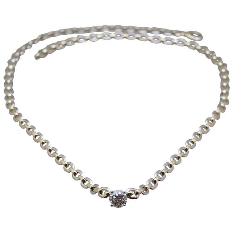 Cartier Diamond Necklace For Sale