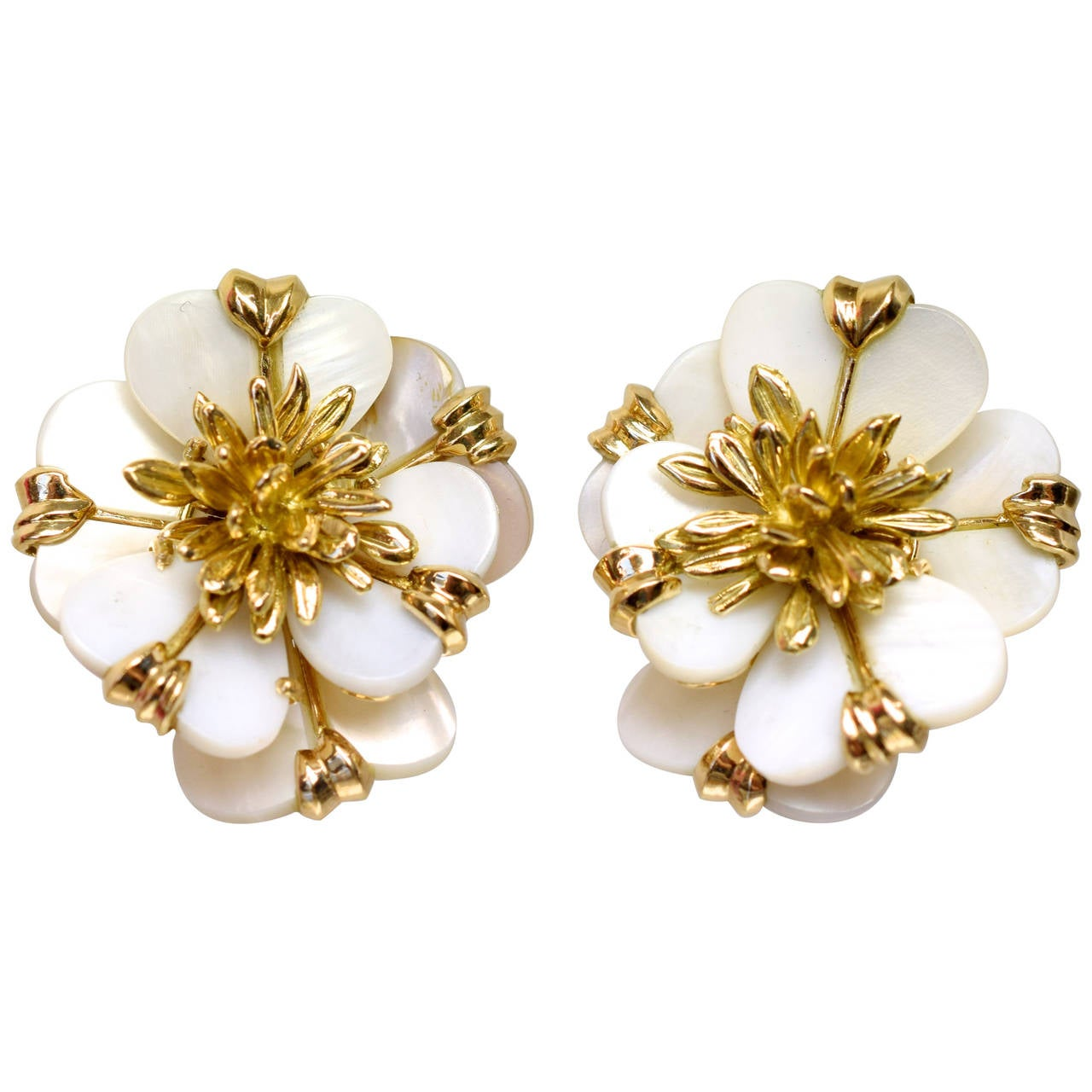 "Cartier ""Edelweiss Flowers"" Paris Earrings"