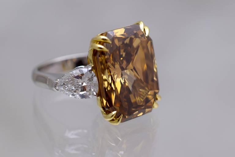 Gia 2051 Carat Cognac Diamond Solitaire Ring At 1stdibs. Boyz Rings. Coal Engagement Rings. Palm Rings. One Finger Engagement Rings. Super Bowl Rings. Coral Wedding Rings. Man Made Engagement Rings. Lapis Rings