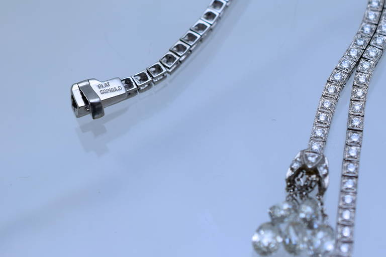 Diamond Necklace In Excellent Condition For Sale In New York, NY