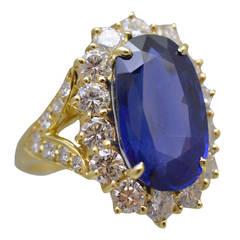Van Cleef & Arpels No Enhancement Burmese Sapphire Diamond Gold Engagement Ring