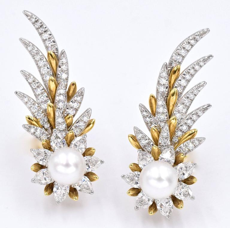 Tiffany & Co. Jean Schlumberger Flame Ear Clips In Excellent Condition For Sale In New York, NY