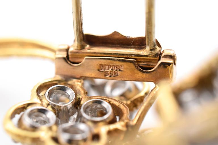 Van Cleef & Arpels Floral Diamond Brooch For Sale 1