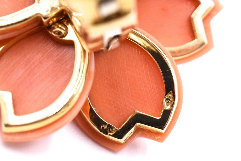 Women's Van Cleef & Arpels Rose De Noel Coral Earrings For Sale