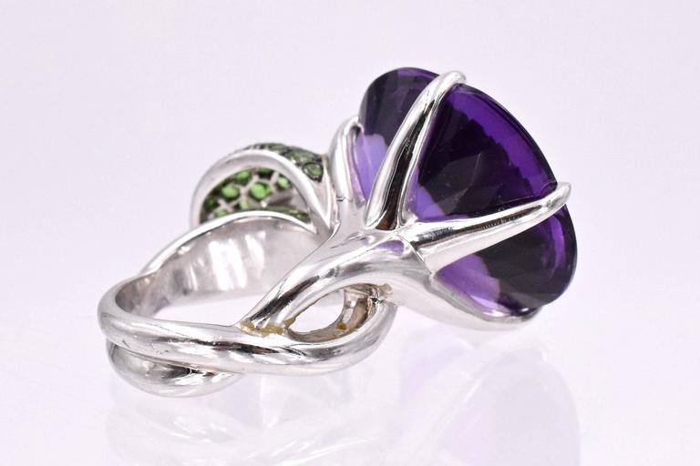 Chanel Amethyst and Tsavorite Ring 6