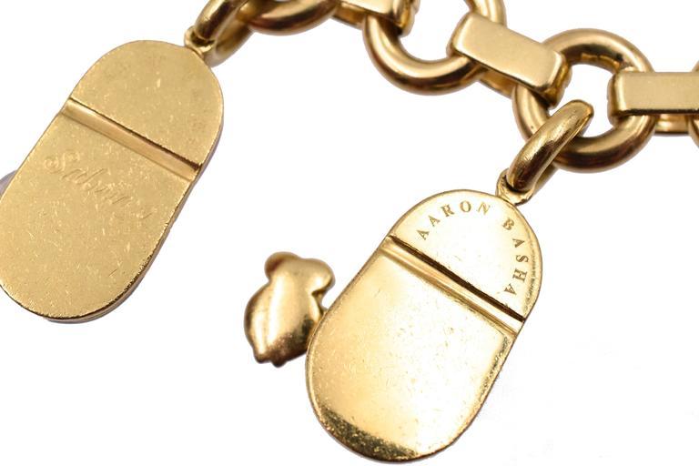 Aron Basha Shoe Charm Bracelet For Sale at 1stdibs