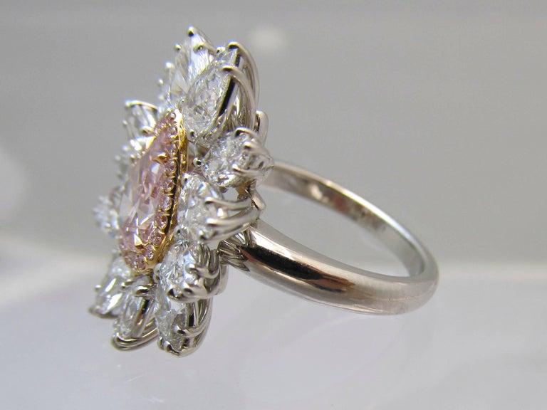 Artist GIA Intense Pink Diamond Ring For Sale