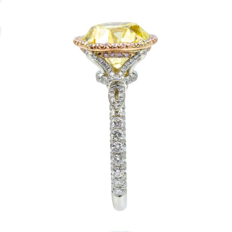 NALLY  GIA Vivid Intense Yellow Color Diamond Ring  For Sale 1