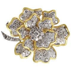 Diamond Flower Brooch