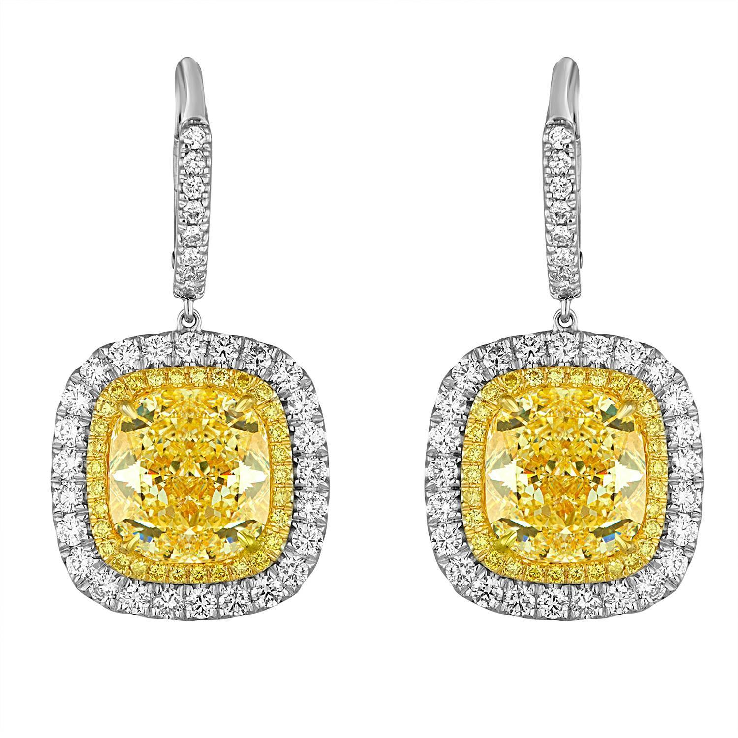 earrings htm diamond platinum cut p product fy canary carat cushion drop