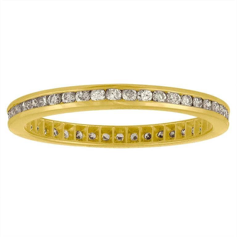 .75 Carats Diamonds Gold Wedding Band Ring