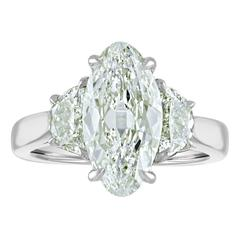 3.01 Carat Marquise GIA Certified Set in Platinum Mounting