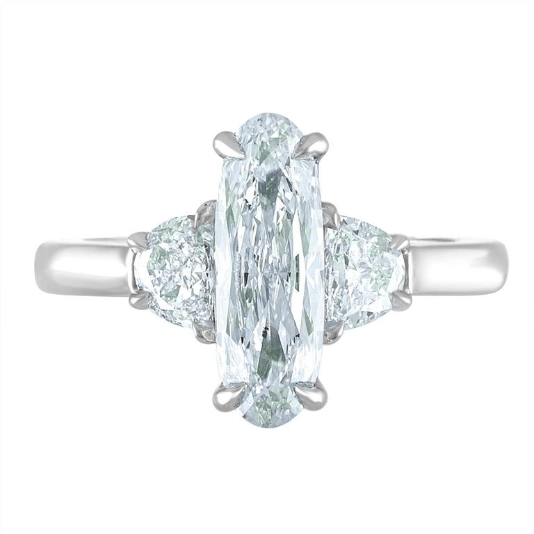 1.55 Carat Oval Diamond GIA Certified Set in Platinum Ring Mounting