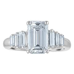 2.54 Carat GIA Certified Emerald Cut Diamond Ring