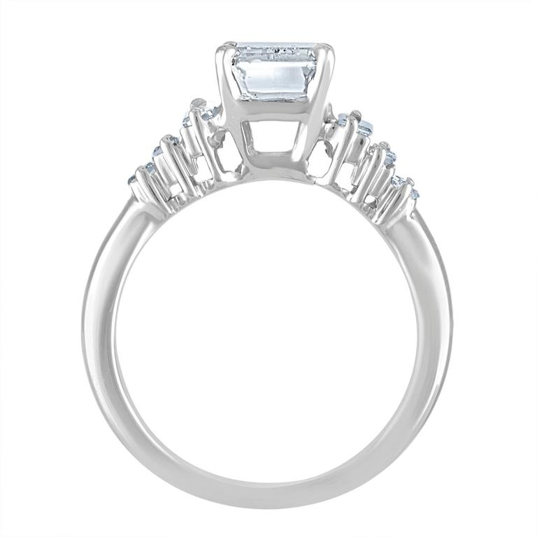 2.54 Carat GIA Certified Emerald Cut Diamond Ring In New Condition For Sale In New York, NY