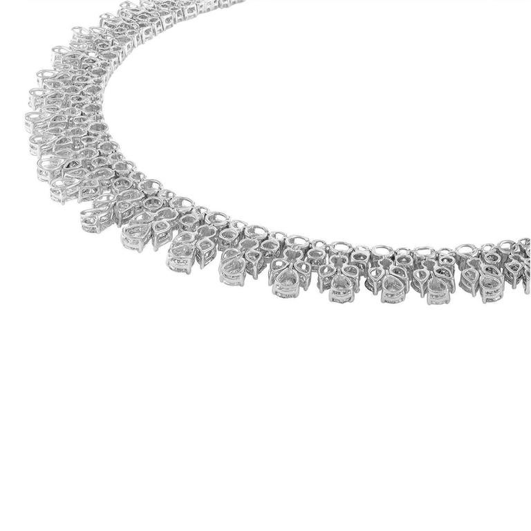 over 50 Carat Fancy Shapes Diamond Platinum Necklace 3