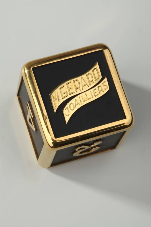 M Gerard Slate Gold Backgammon Dice At 1stdibs