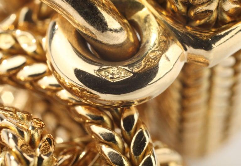 Women's or Men's Hermes Vendôme Tresse Gold Toggle Bracelet For Sale