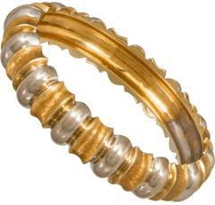 Mid Century Gold Modernist Italian Bracelet
