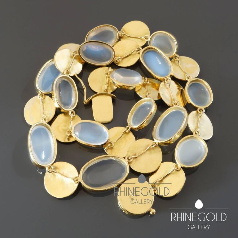 K 228 The Ruckenbrod Modernist Moonstone Gold Necklace For