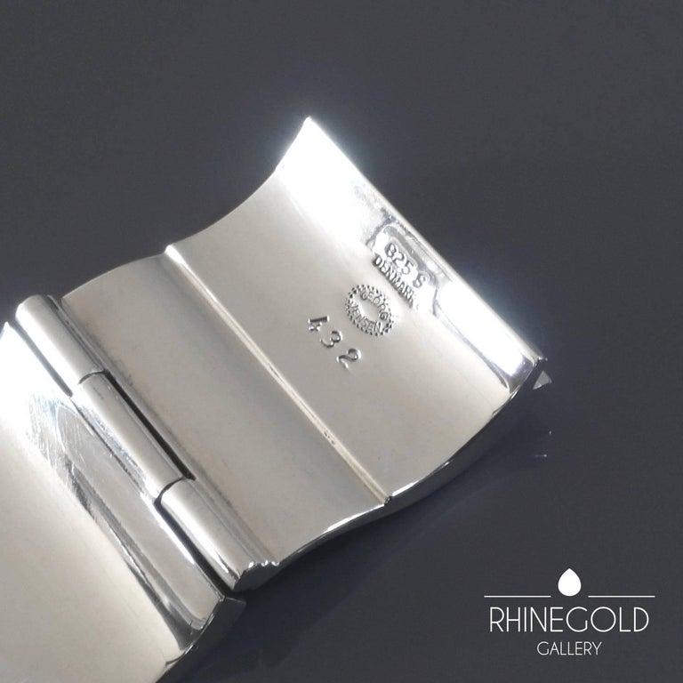 Women's Nanna Ditzel for Georg Jensen 'Surf' Silver Bracelet #432 For Sale
