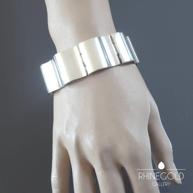 Nanna Ditzel for Georg Jensen 'Surf' Silver Bracelet #432 In Excellent Condition For Sale In Dusseldorf, NRW