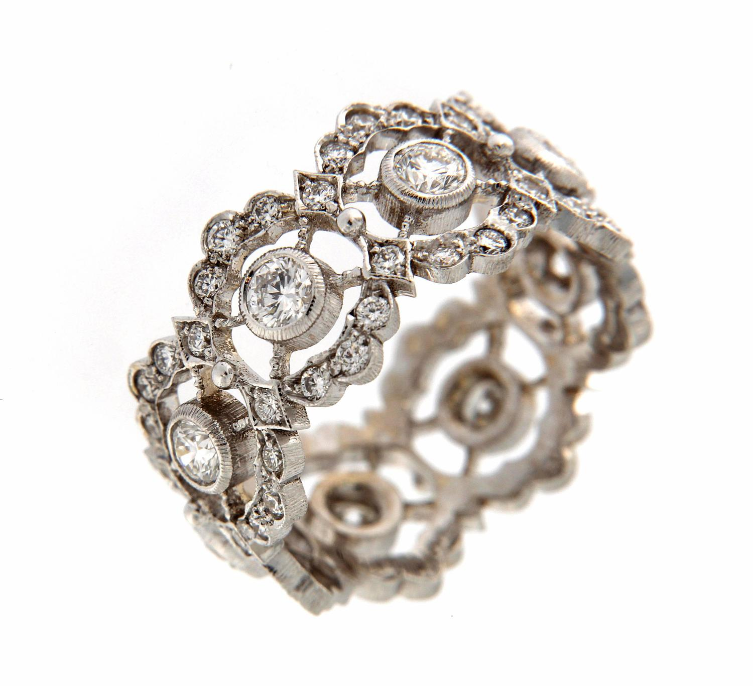 Traditional florentine workmanship ring for sale at 1stdibs for Orthodox wedding rings for sale
