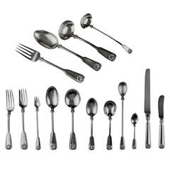 Tiffany & Co. Silver Shell and Thread Sterling Silver Flatware Set