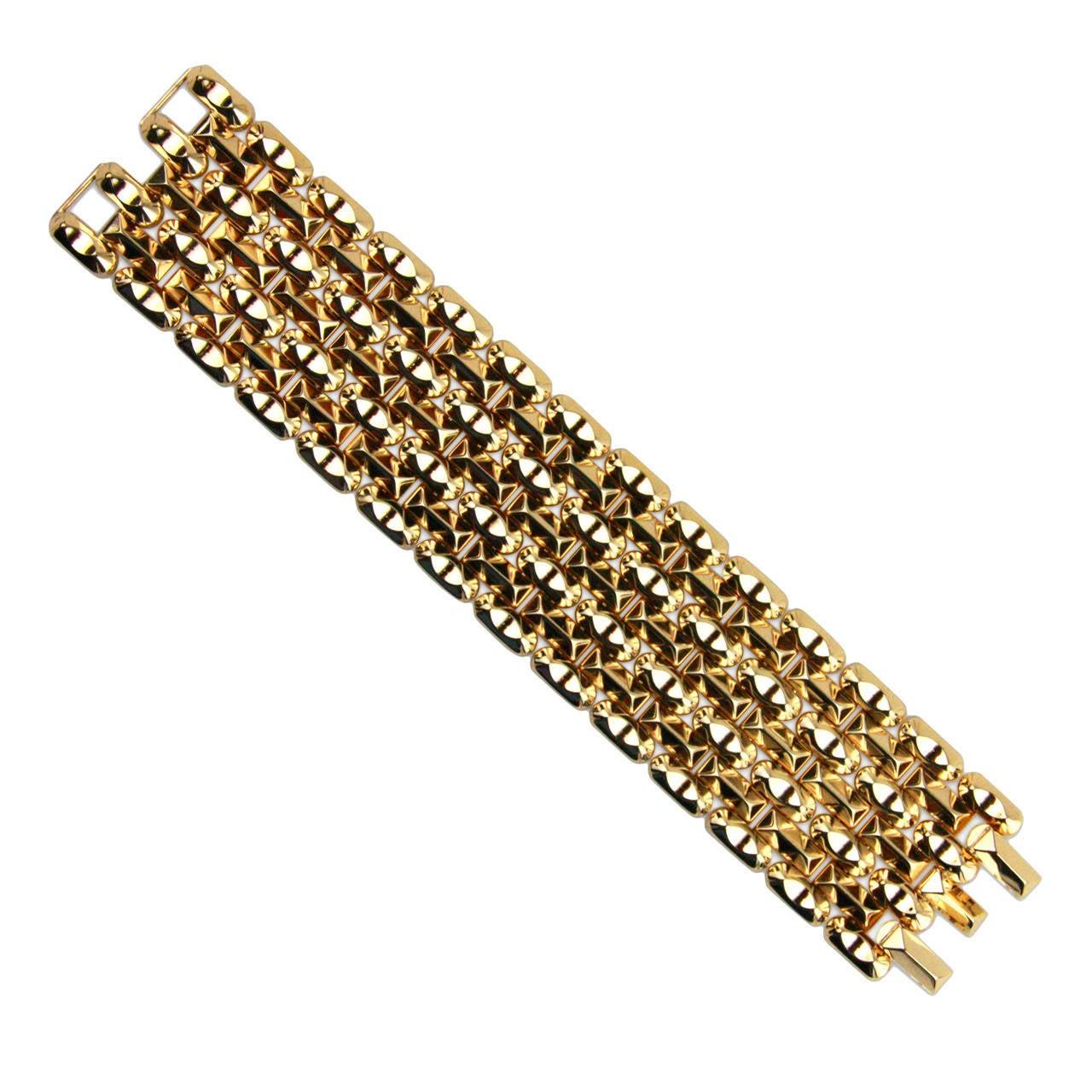 1940s Retro Pink Gold Bracelet For Sale