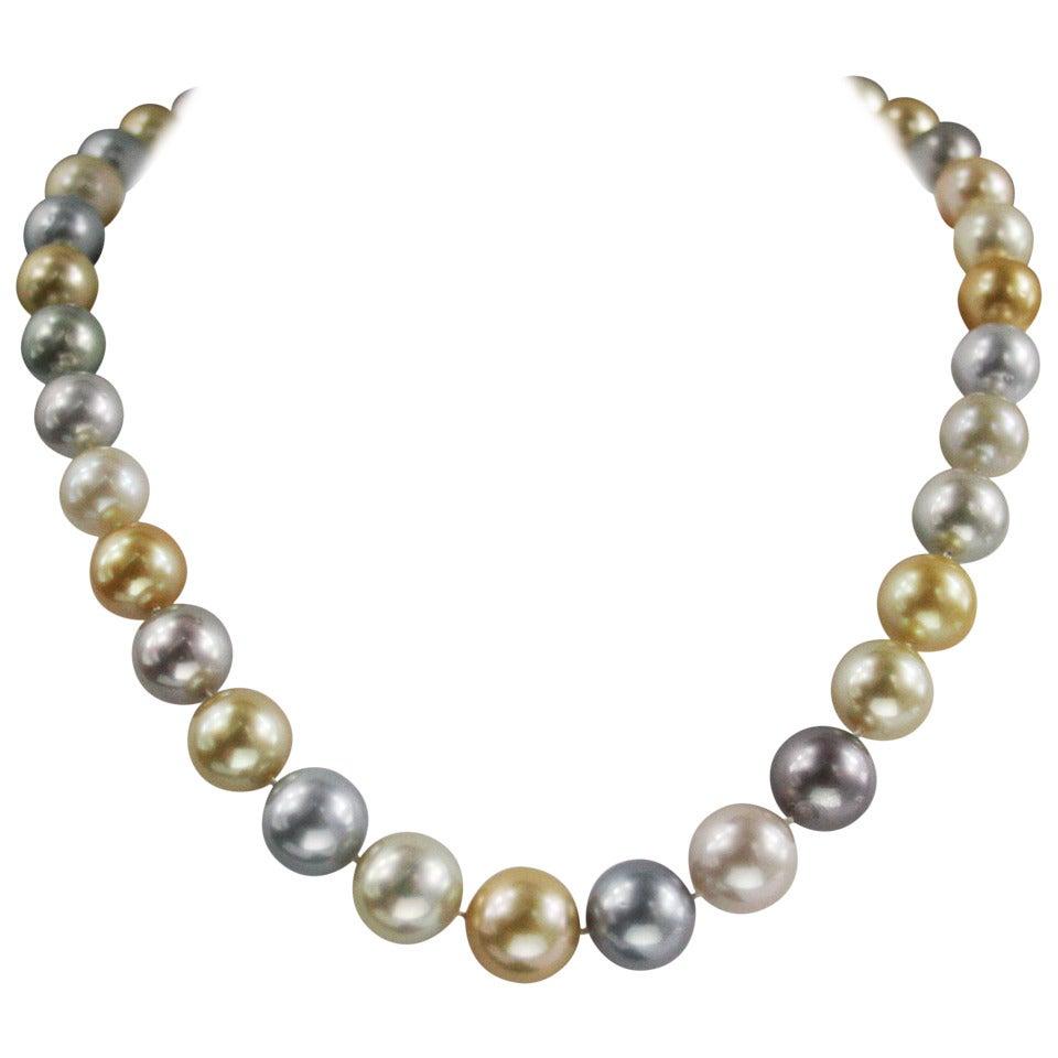 South Sea Multicolored Cultured Pearl Necklace