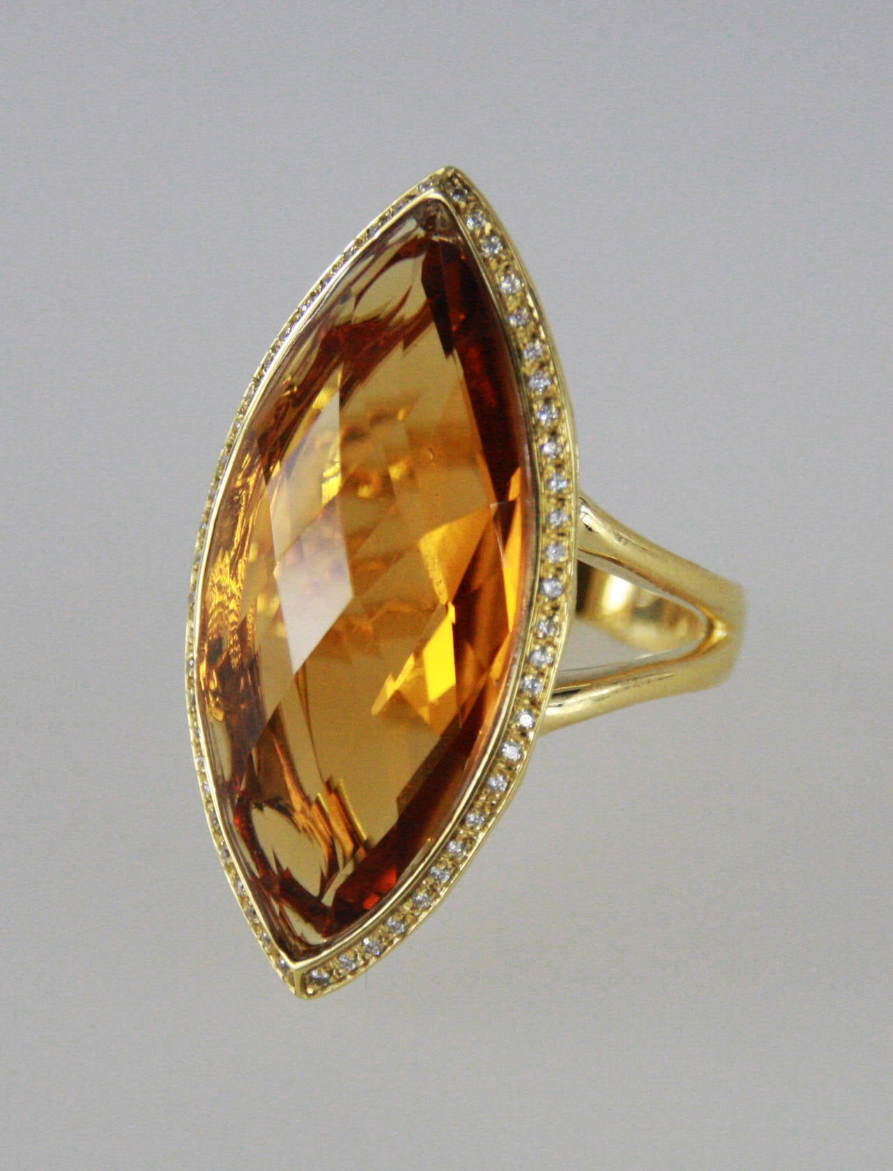 Italian Citrine Diamond Gold Ring For Sale At 1stdibs. 100% Rings. Teardrop Wedding Rings. Floral Cut Engagement Rings. Tiffany Big Diamond Wedding Rings. Charmed Engagement Rings. Dome Rings. Mordor Rings. Third Eye Rings