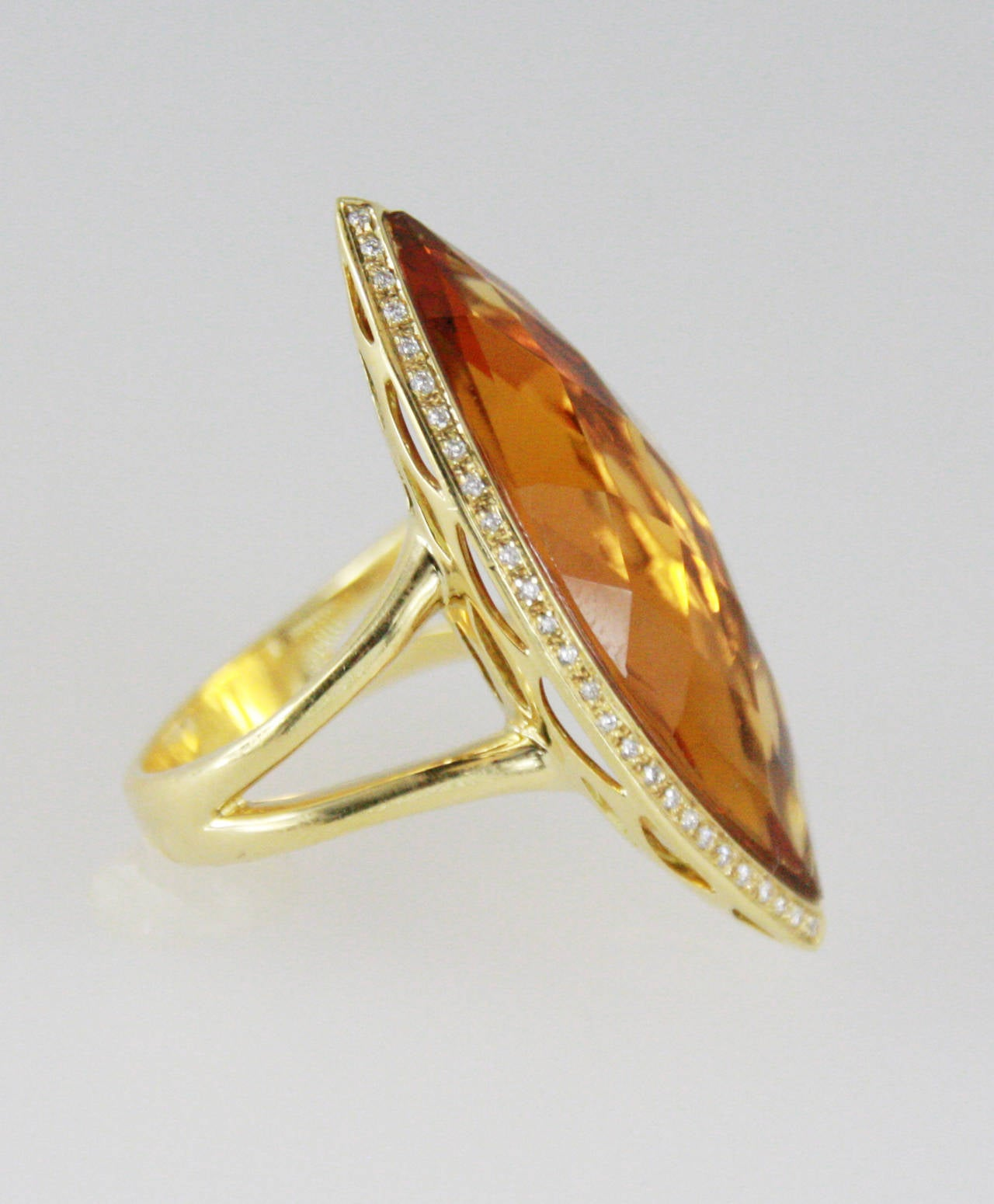 italian citrine gold ring for sale at 1stdibs