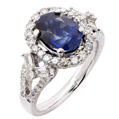 2.6 Carat Sapphire and Diamond Ring
