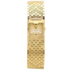 Rolex Ladies Yellow Gold Diamond Mystery Wristwatch