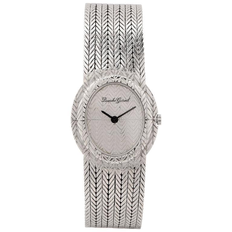 Bueche Girod Ladies White Gold Wristwatch