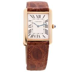 Cartier Yellow Gold Solo Wristwatch