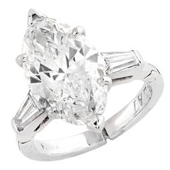 3.5 Carat Marquise Cut Diamond Engagement Ring