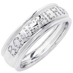 Boucheron Diamond White Gold Wedding Band Ring