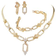 Mecan Elde Suite of Diamond Gold French Jewelry
