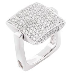 1.5 Carat Diamond White Gold Ring and Pendant