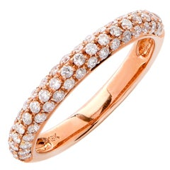 .50 Carats Diamonds Rose Gold Band Ring