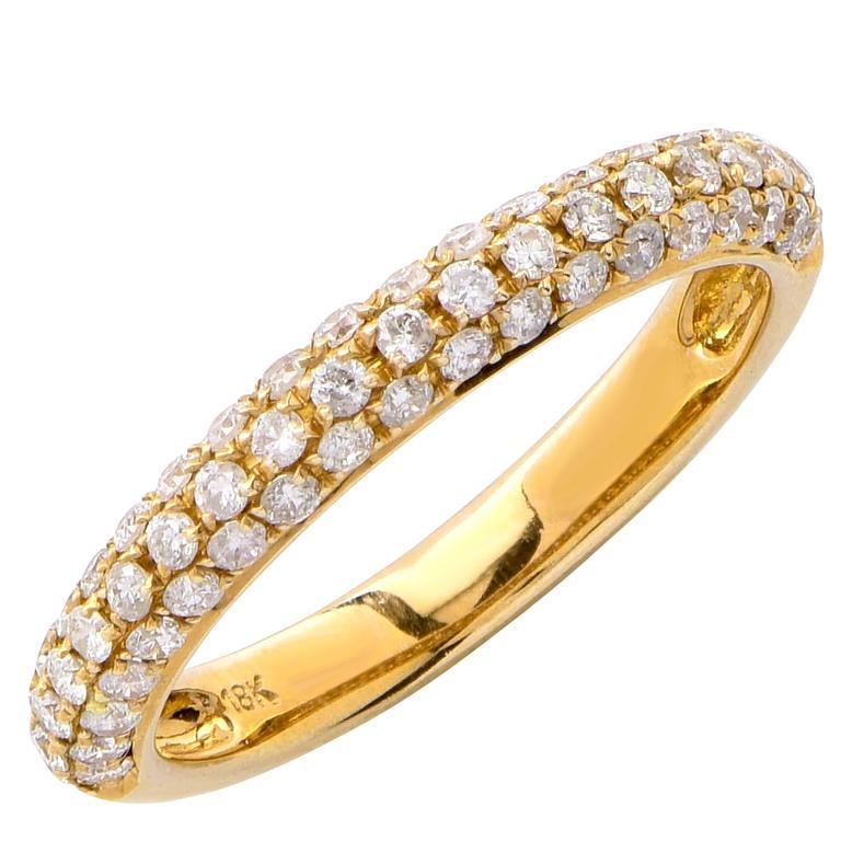 .50 Carat Diamond Yellow Gold Band Ring