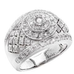 .90 Carat Diamond White Gold Cocktail Ring