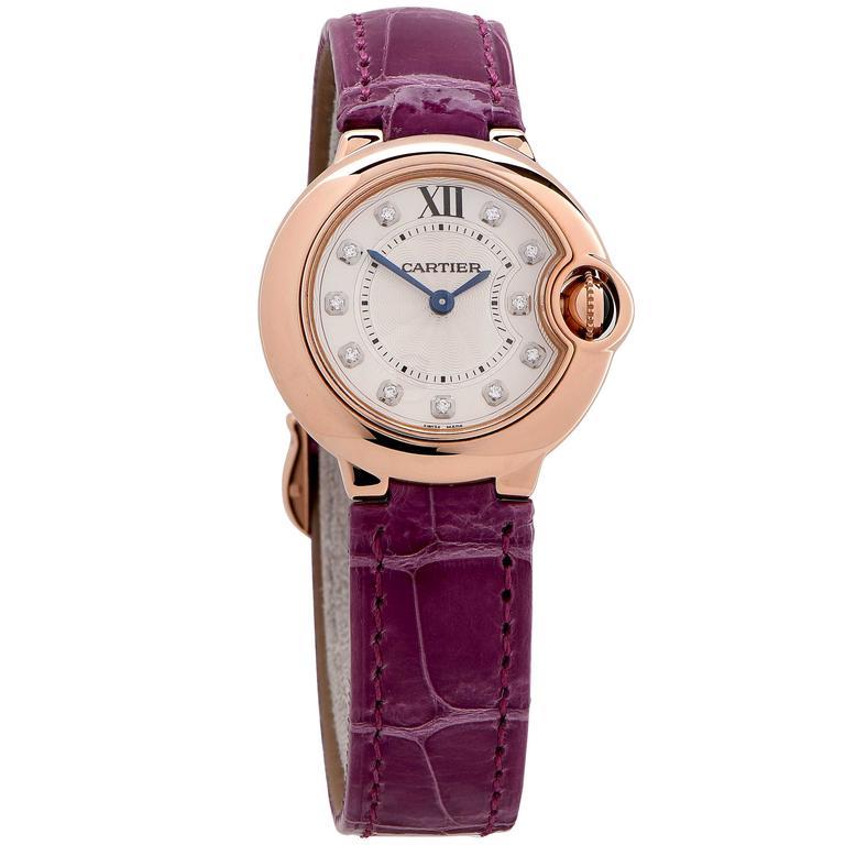 Cartier Rose Gold Ballon Bleu Wristwatch