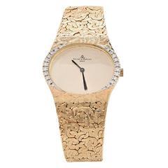 Baume & Mercier Yellow Gold Nugget Diamond Wristwatch