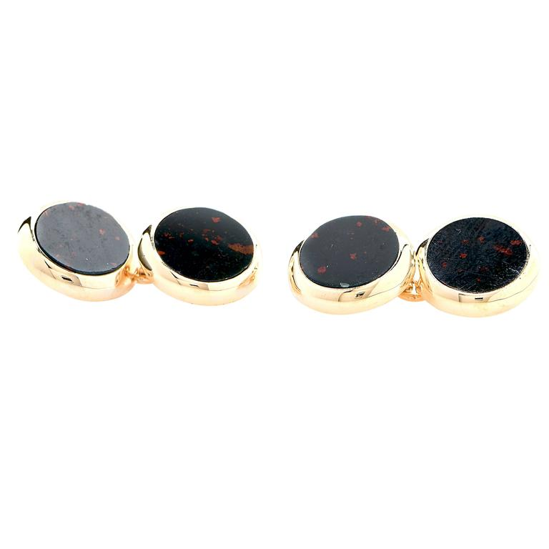 Chalcedony Yellow Gold Cufflinks