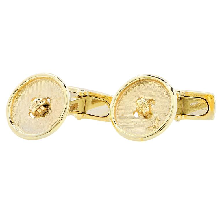 Yellow Gold Button Cufflinks